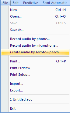 Record text-to-speech button