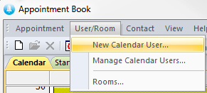 calendar menu new user
