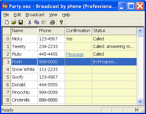 Voicent BroadcastByPhone Autodialer screenshot