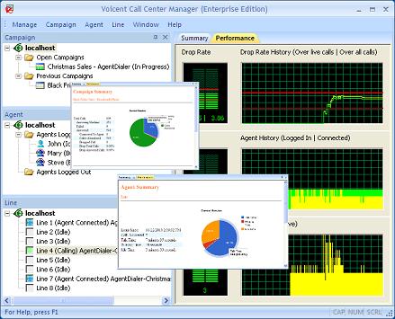 Voicent Call Center Manager full screenshot