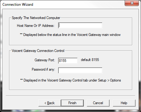 connection wizard ip address selection