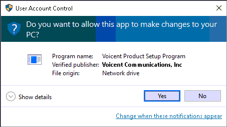 user account control popup