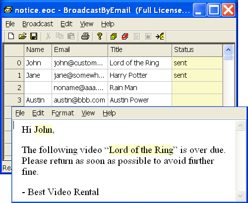 Free Email Marketing: Broadcast By Email Screen shot