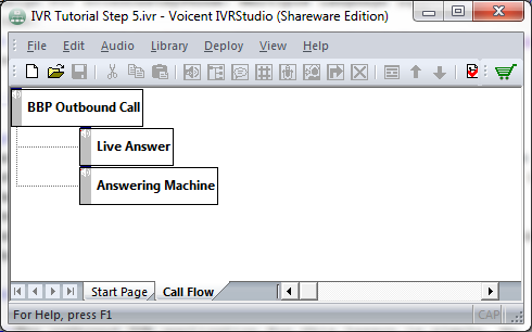 IVR outbound call application