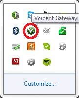 Windows toolbar gateway icon