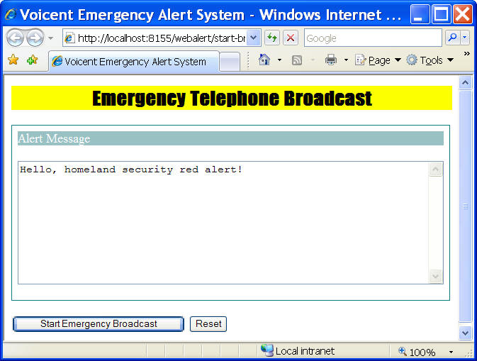 Building a web based emergency notification system for Emergency message templates